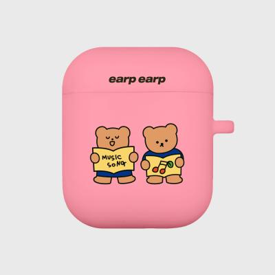 Music song bear-pink(Air pods)