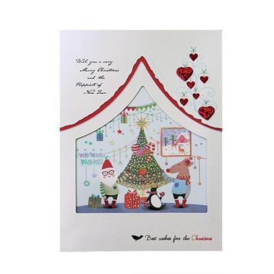 크리스마스카드/성탄절/트리/산타 x-mas 파티준비 card (FS201-1)