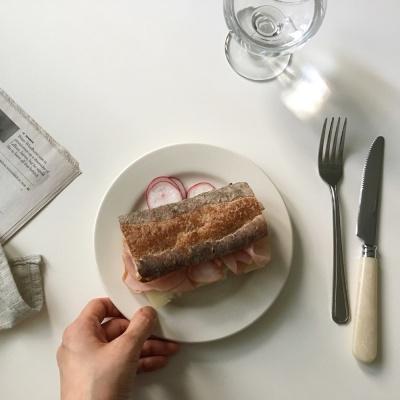 시에나 라운드플레이트(디저트접시, 홈카페용)