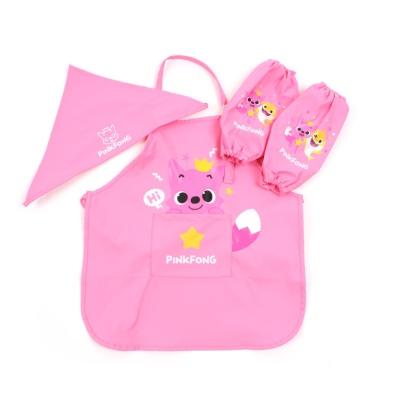 핑크퐁 키즈 앞치마 세트 핑크