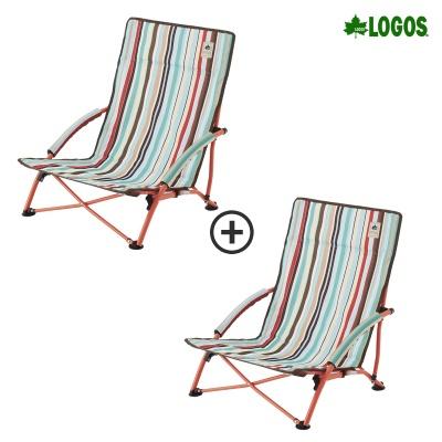 1+1 와이드 로우 캠핑의자