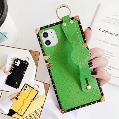 아이폰 x xs max xr 스트랩/고리 사각 핸드폰 케이스