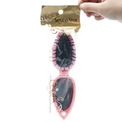 매직브러쉬 거울과 빗이 하나로 접어 휴대간편 핑크