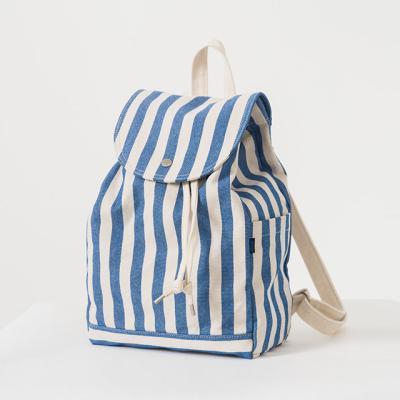 [바쿠백] 드로스트링 캔버스 백팩 Summer Stripe