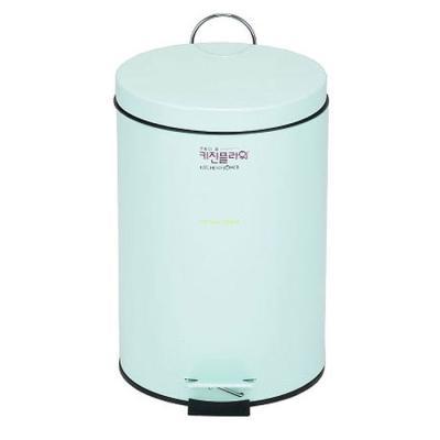 데코 페달 무소음 휴지통 용량5리터 스카이민트 컬러