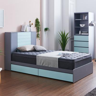 러블리 도어수납 서랍형 침대 슈퍼싱글+본넬 매트리스