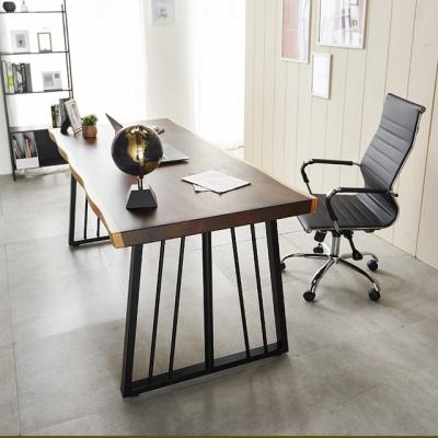 일자형책상 폭600 1400 우드슬랩 테이블 컴퓨터책상