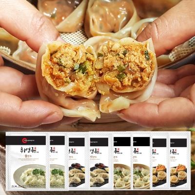 [찐만두매니아] 김치2+고기2+물만두2+교자2 (8봉)