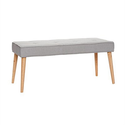 [Hubsch]Bench, wooden legs, fabric, grey 109003 벤치