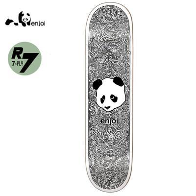 [ENJOI] PANDA MAZE WHITE/BLACK R7 DECK 31.7 x 8.0