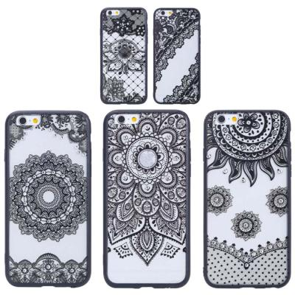 플라워 실루엣 패턴 케이스(아이폰6S플러스)