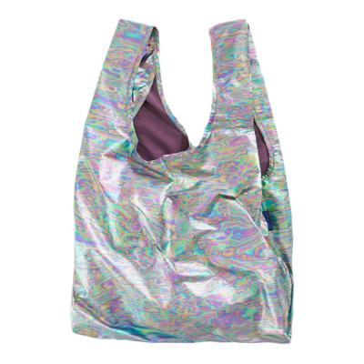 [바쿠백] 장바구니 접이식 시장가방 Rainbow Metallic