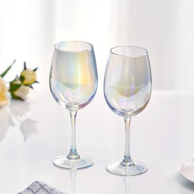 홀로그램 오로라 와인잔 470ml 2P 홈카페유리컵