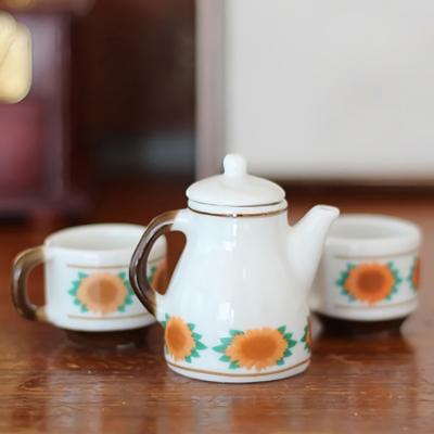 미니어처 피규어 모형 플라워 오렌지 주전자 컵 세트