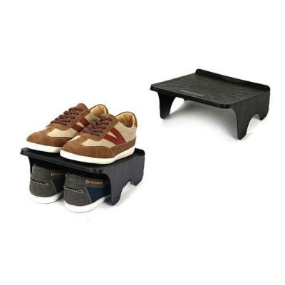더블형 신발정리대 블랙 공간활용 2족