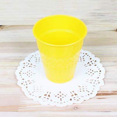 파티용 칼라 컵-옐로우(10개입)
