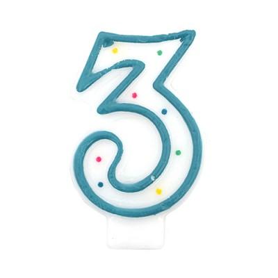 도트 숫자초3-블루