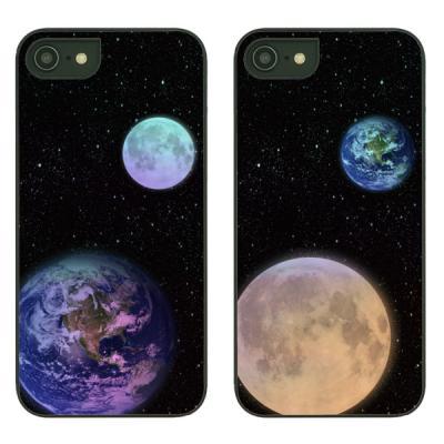 아이폰7플러스케이스 지구와달 샤이닝케이스