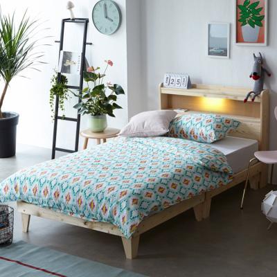 인터데코 원목 LED조명 침대 수퍼싱글 (매트별도) OT020