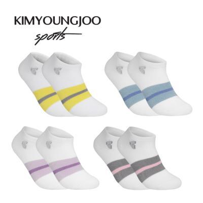 5팩 KYJ 로우컷 컬러밴딩 골프양말 남녀 김영주스포츠