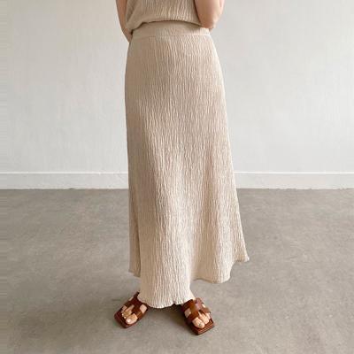 Summer Pleats Long Skirt