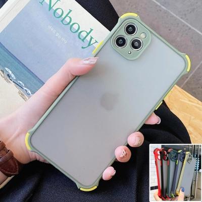 아이폰11 프로 맥스/렌즈보호 컬러 범퍼 반투명케이스
