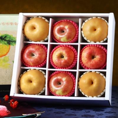 [Gift One] 명품사각 실속 햇사과,배 세트/3.7kg