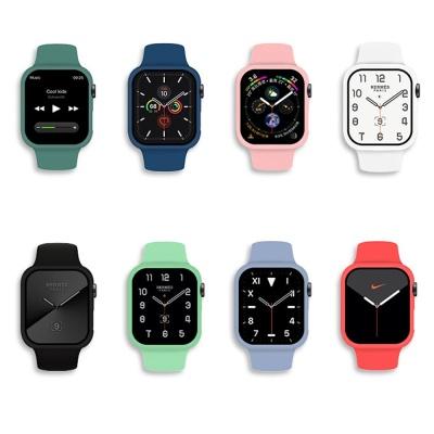 애플워치6 5 4 3 2 컬러 실리콘 밴드 케이스 시계줄