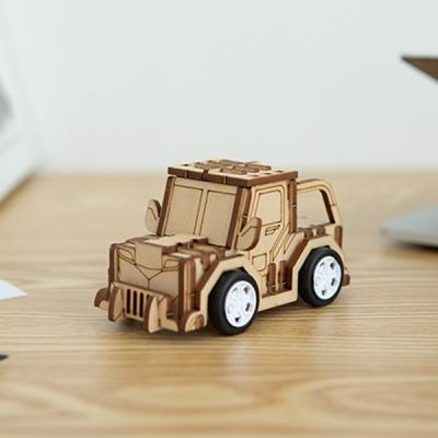 [호랑이 자동차] DIY 어린이 코딩 조립 나무 장난감