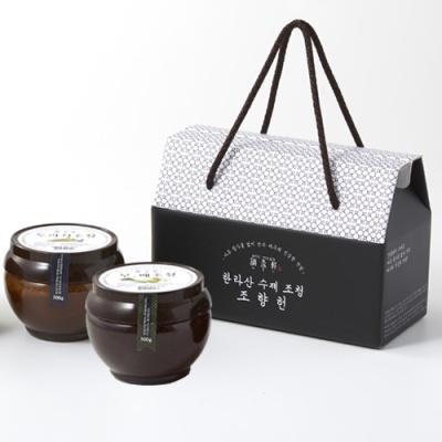 [명인가옥] 한라산 가마솥 무,배500g+솔잎500g 조청