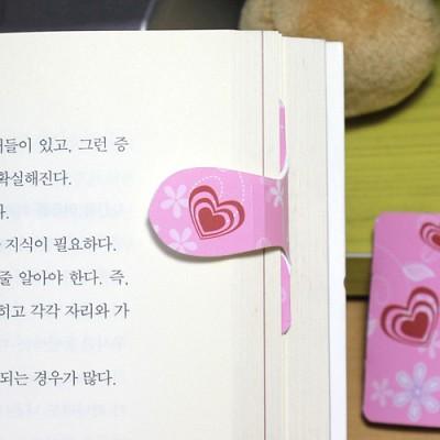 [플라스틱 and 자석 자동책갈피] 자동책갈피 수지인 : 초코러브(핑크)