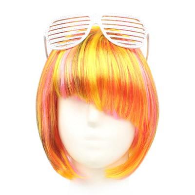 단발머리 믹스 가발 (옐로우)