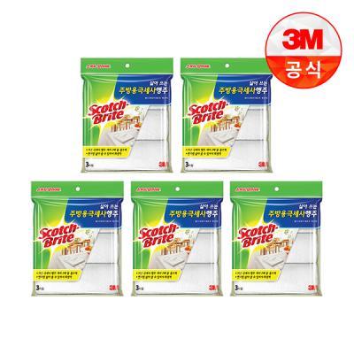 [3M]삶아쓰는 주방용극세사행주(3매입)5개세트