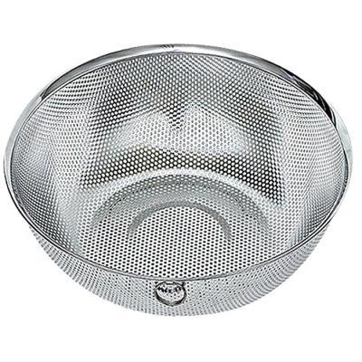 요리를 즐겁게 스텐 타공 원형바구니 대 5호 28.5cm
