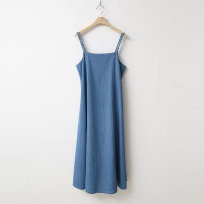 Denim Cami Long Dress