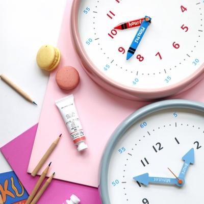 [N365] 250파이 어린이 시간공부 무소음 컬러벽시계
