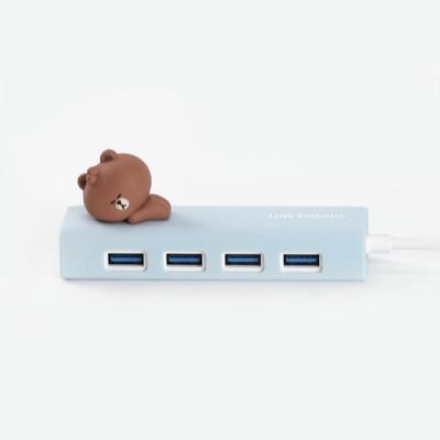 라인프렌즈 피규어 USB 3.0 허브