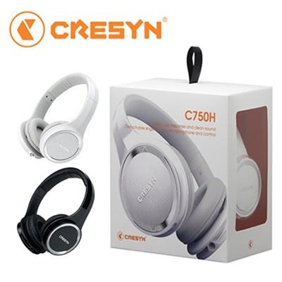 [CRESYN] [LTE배송] 크레신 C750H 밀폐형 헤드폰 / 블랙 화이트 / 케이블2종