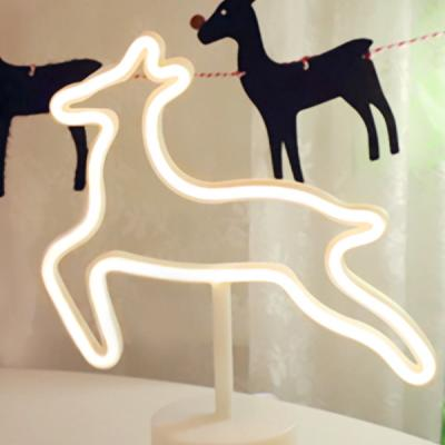 LED 네온 전구 USB 조명등 (사슴)