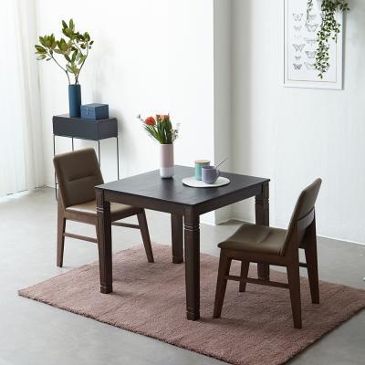 [리비니아]제이미 빈츠모카 2인 화산석 마블 식탁세트