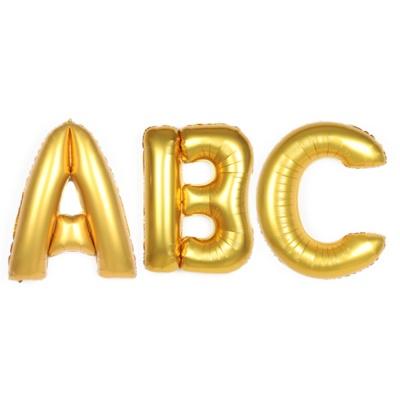 알파벳 은박풍선 (대)-골드