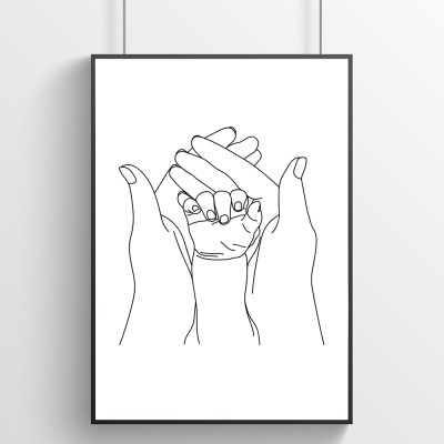 작고 소중한 너의 손 - 아이방포스터