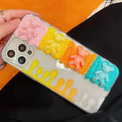 아이폰 12 11 pro max se2 7 곰돌이 입체 젤리 케이스