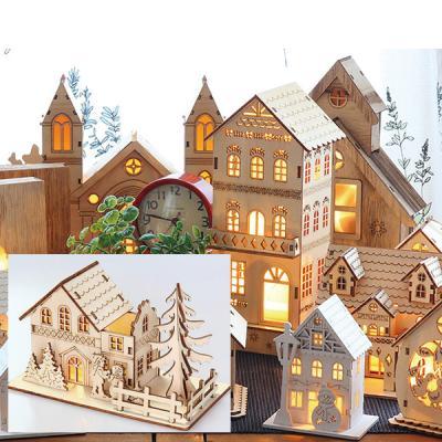 핸드메이드 LED 무드등 취침등 이층집과 나무