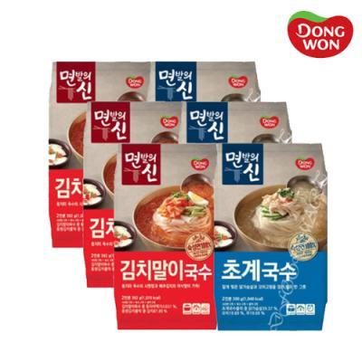 [동원] 면발의신 초계국수 3봉 + 김치말이국수 3봉