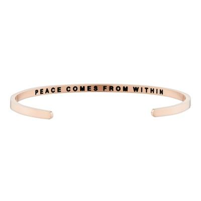 [만트라뱅글] PEACE COMES FROM WITHIN - 로즈골드