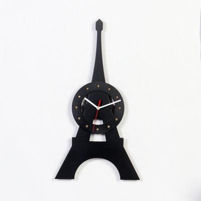 우드 서클 에펠탑 디자이너 시계-2색상