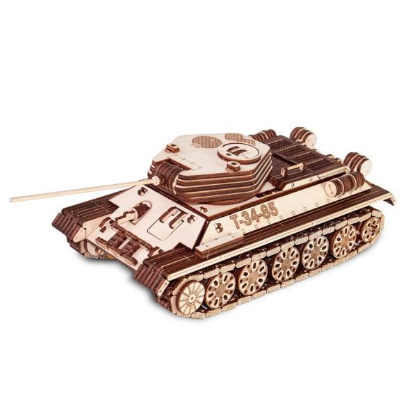 EWA 에코우드아트 3D DIY 입체 나무퍼즐 탱크T-34-85