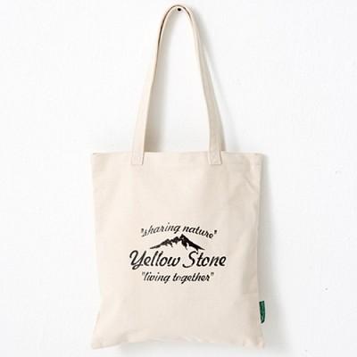 [옐로우스톤] 빈티지 에코백 vintage eco bag - ys2015ft 베이지 폰트