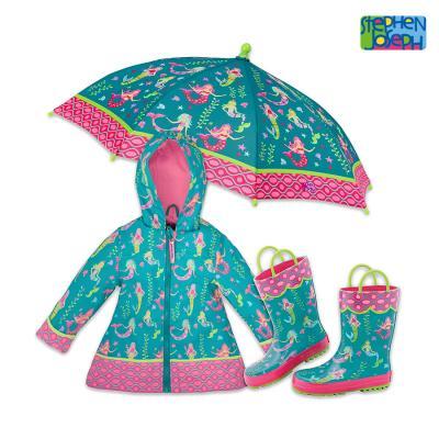 프린티드 레인3종 SET - 인어공주 / 우비,우산,장화